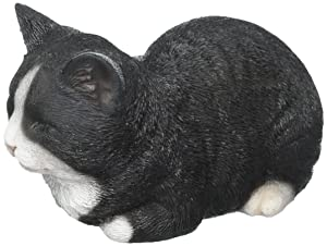 Hi-Line Gift Ltd Sleeping Cat Statue, Black/White