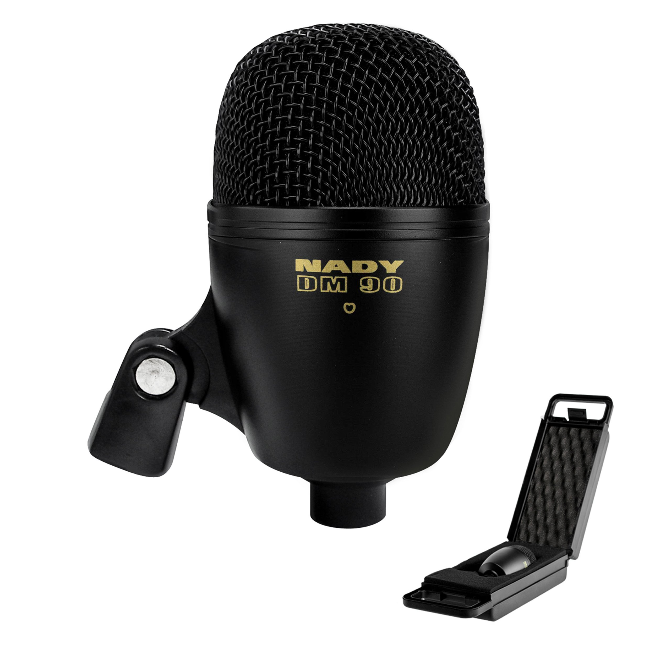 The DM-90 Dynamic Kick Drum Microphone - Extended low frequency, supercardioid pattern and dynamic large diaphragm by Nady
