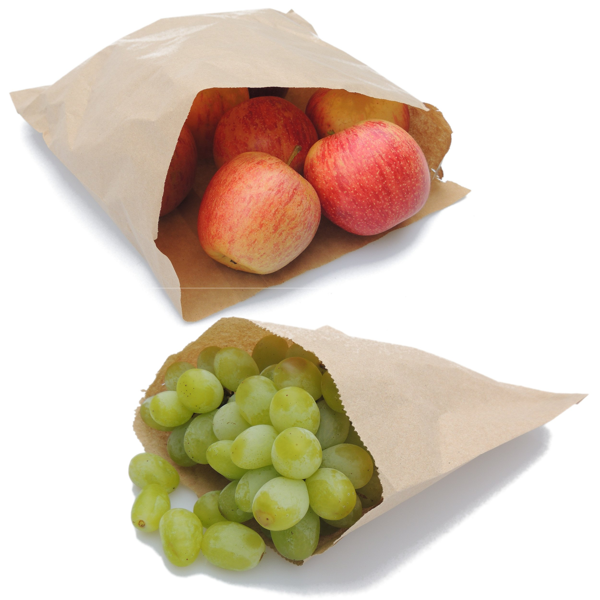 """10/"""" x 10/"""" WHITE PAPER BAGS For Sandwiches Pack Up Fruit Party Market Stall"""