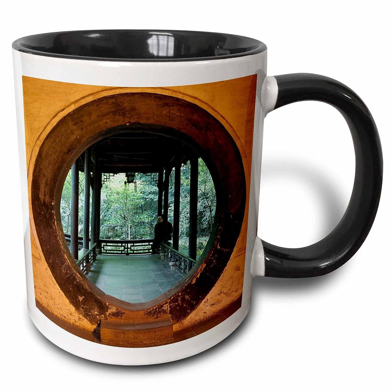 11 oz Du Fu Thatched Cottage Park Chengdu 3dRose mug/_71082/_4China Multicolor Charles Crust Two Tone Black Mug Moongate-AS07 CCR0900