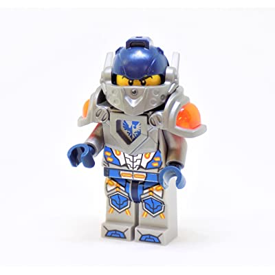 LEGO Nexo Knights Clay with Silver Armor and Visor Minifigure: Toys & Games