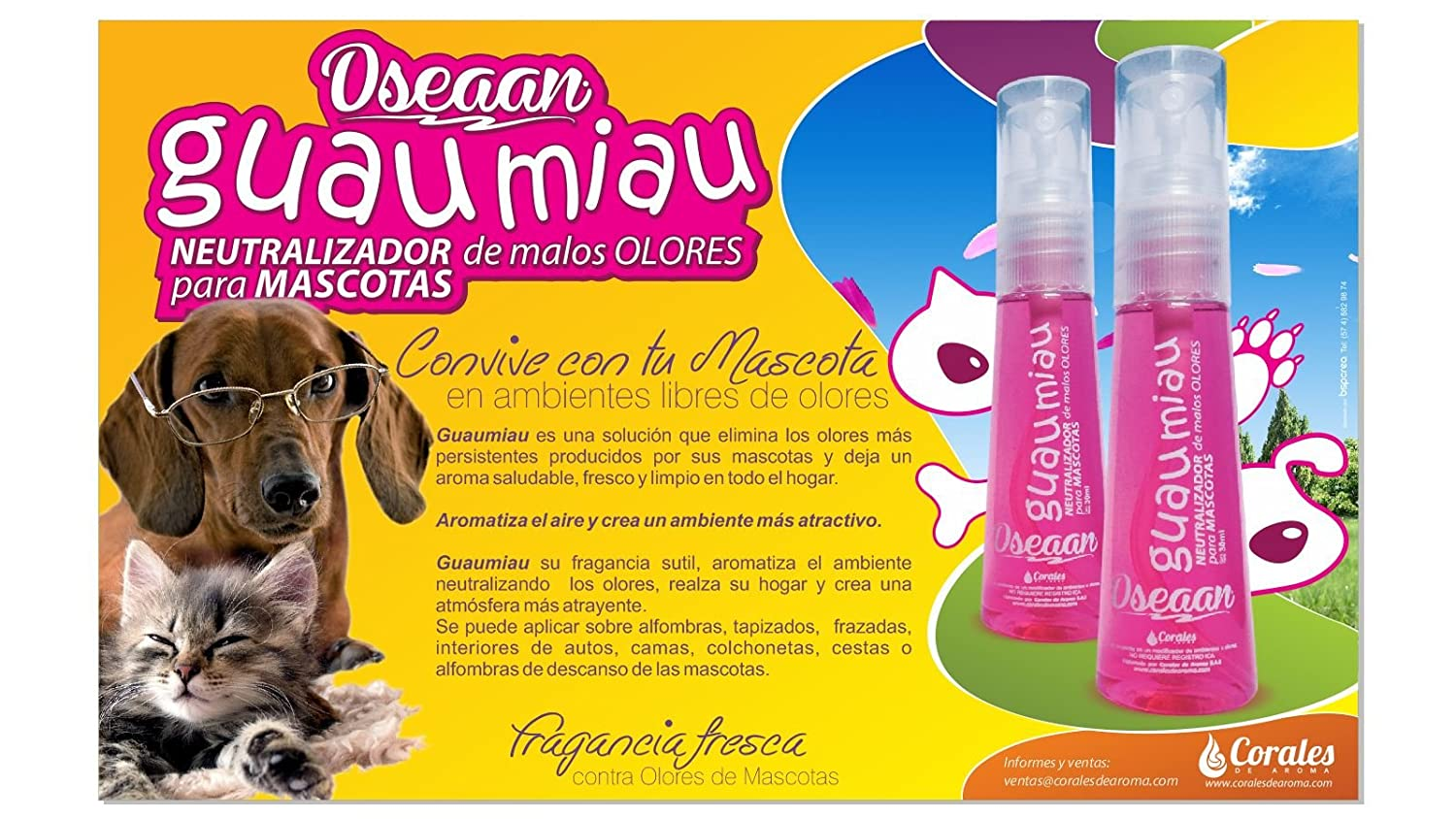Amazon.com : Oseaan clean Pet Odor Neutralizer- GUAMIAU : Pet Supplies