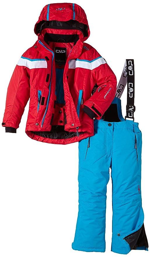 disponibilità nel Regno Unito c2227 b4b95 CMP, Completo giacca e pantaloni da sci Bambina, Rosso (Lacca), 152 cm