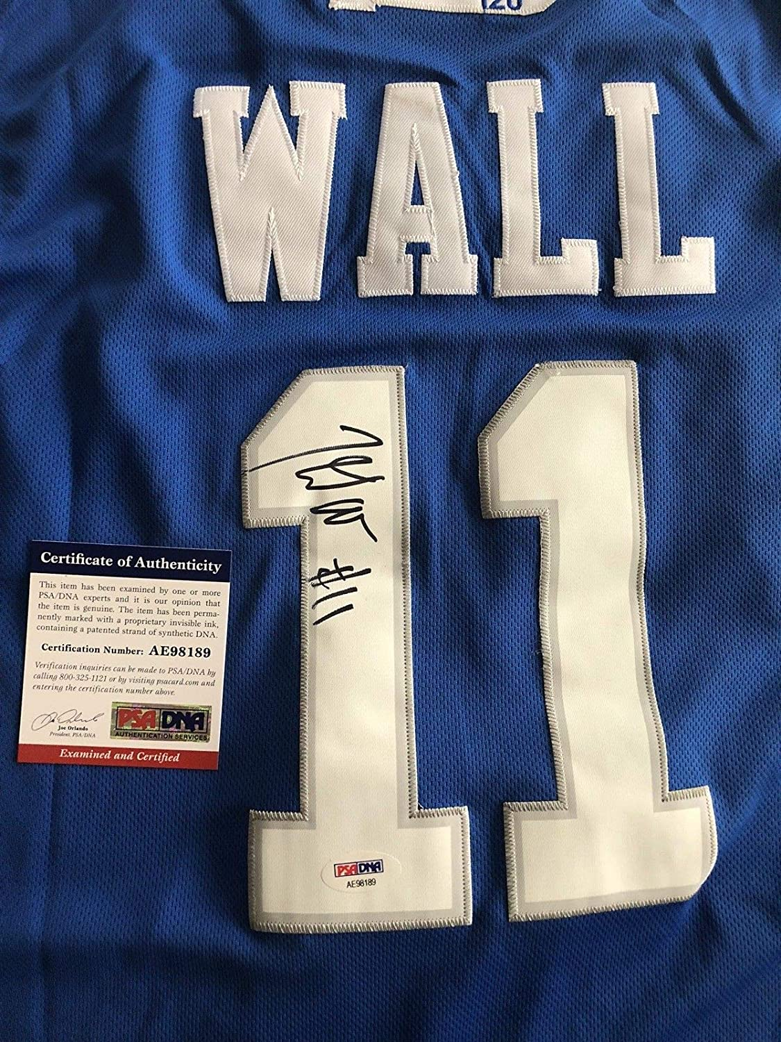 45d5a2c73 John Wall Autographed Signed Kentucky Wildcats Jersey PSA DNA  11 Wizards  Nba All Star at Amazon s Sports Collectibles Store
