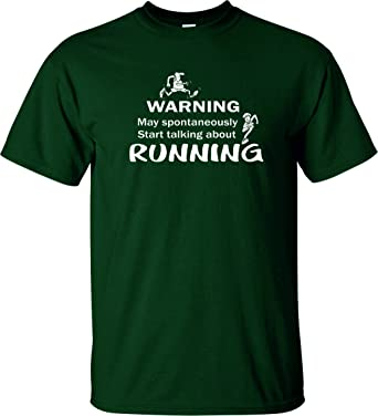 RUNNING WARNING T Shirt Funny Runners Tee Birthday Present Gift Idea Jogging Joke FAMOUSFX