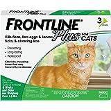 Frontline Plus Flea Treatment Pipettes for Cat 3 Pieces, 3 Count, Green