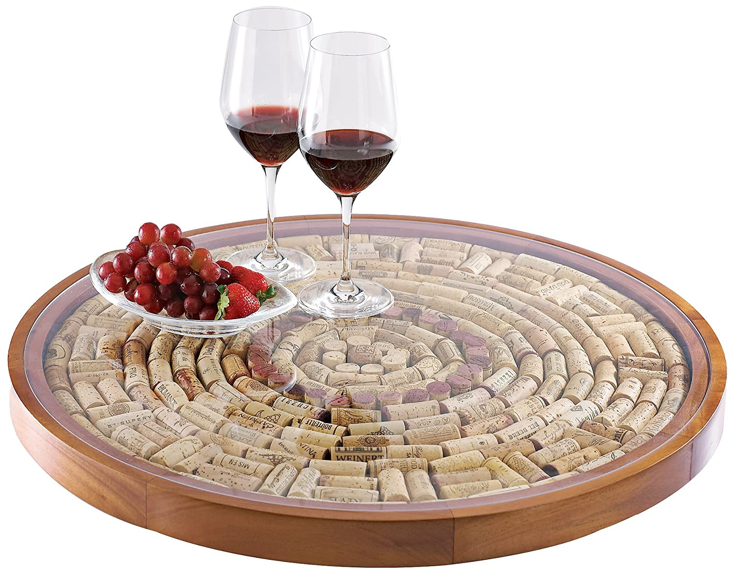 Amazoncom Wine Enthusiast Wine Cork Lazy Susan Kit Kitchen Dining