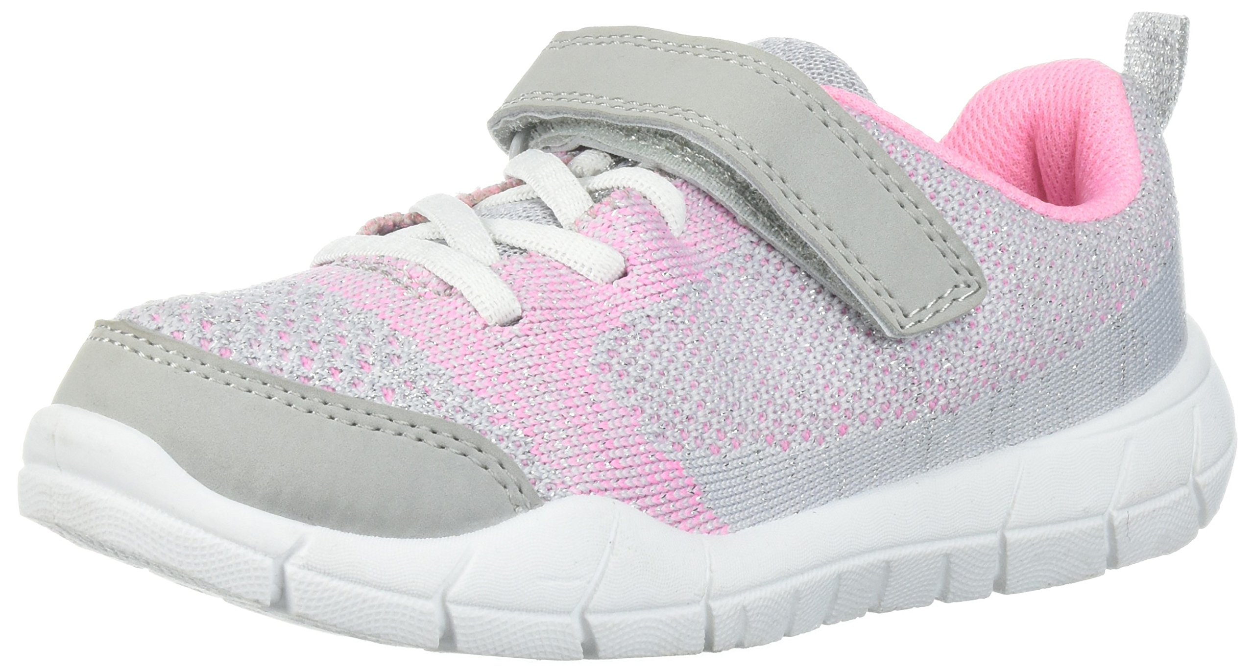 Carter's Baby Ultrex Boy's and Girl's Lightweight Sneaker, Silver, 10 M US Toddler