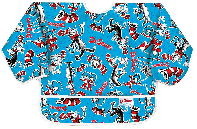 bumkins(バンキンス)スリーブビブ USA発お食事用防水長袖ビブ 6~24ヶ月 ひもタイプ Cat in Hat(ブルー) SUC01  Cat in Hat(ブルー)ひもタイプ B000EM7LUG