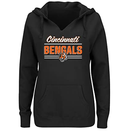 Amazon.com   NFL Team Apparel NFL womens Bengals Fleece Pull Over ... 17dc25e6f2