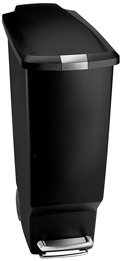 Delicieux Simplehuman 40 Liter / 10.6 Gallon Slim Kitchen Step Trash Can, Black  Plastic Bin With