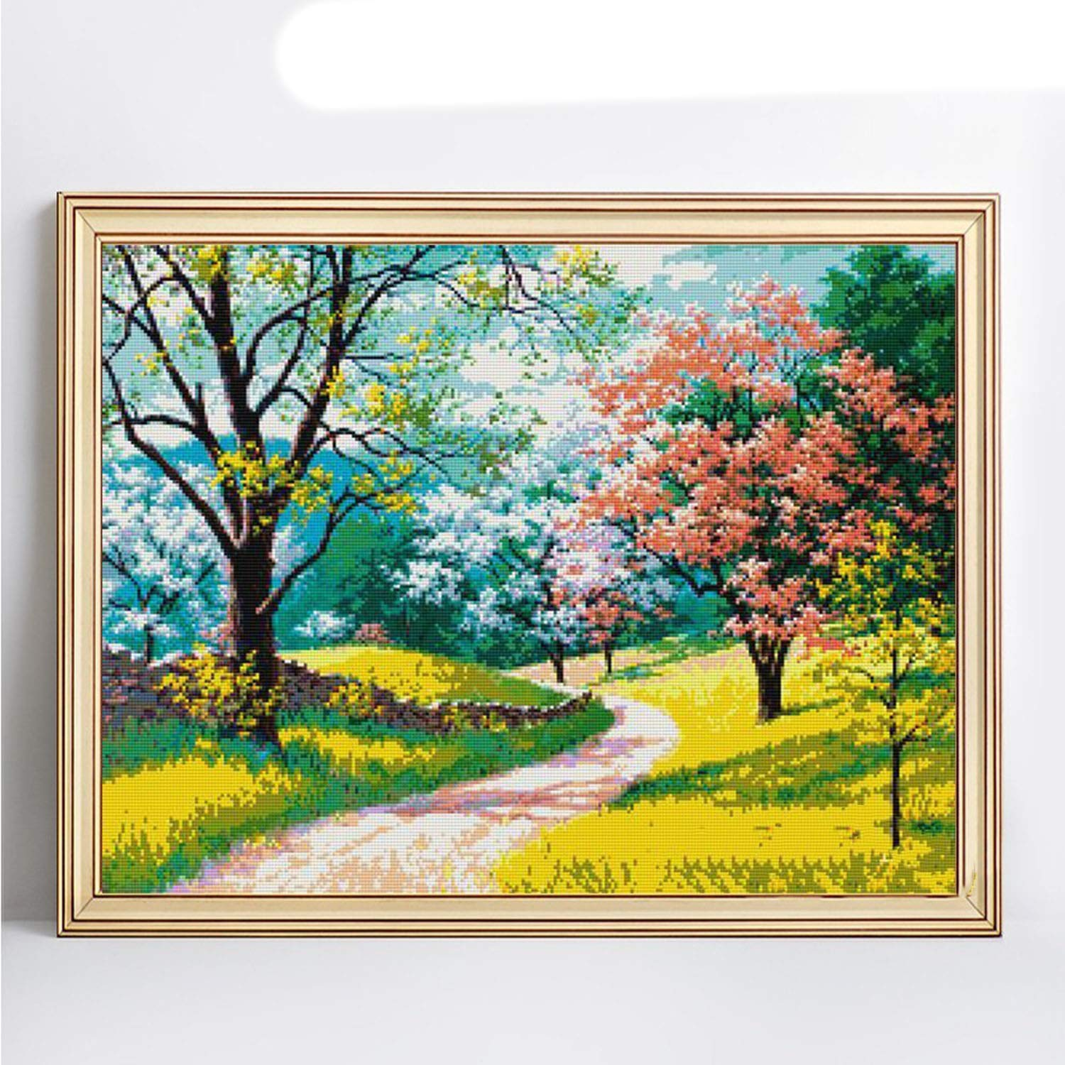 Diamond Embroidery Full Display Spring Full Square DIY Cross Stitch Diamond Painting Landscape Mosaic Home Decor Gift,F20,Squaredrill 80x100cm by ONLY-FOR-ME-1 (Image #2)