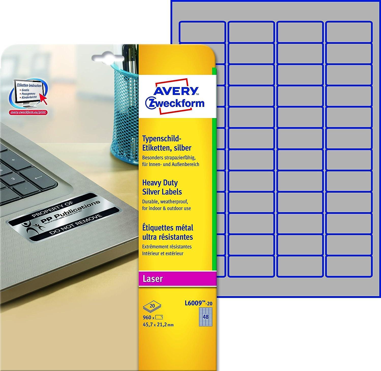 Identification labels 45.7 x 21.2 Avery Zweckform 421384