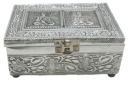 Caja de aluminio decorada para regalo y joyero