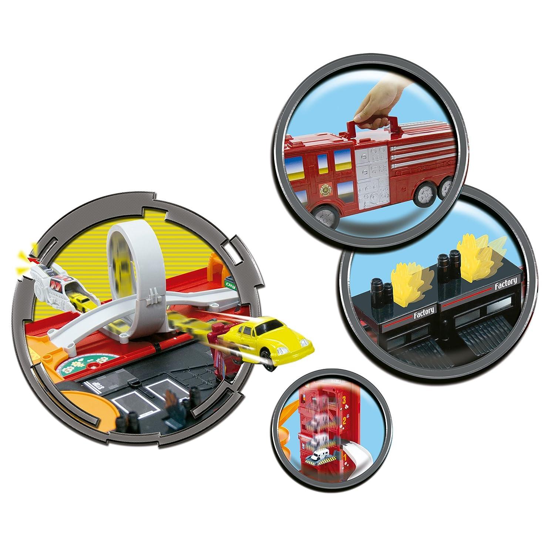 itsImagical Microfast Fire Truck City - Parque de bomberos portátil, unisex: Amazon.es: Bebé