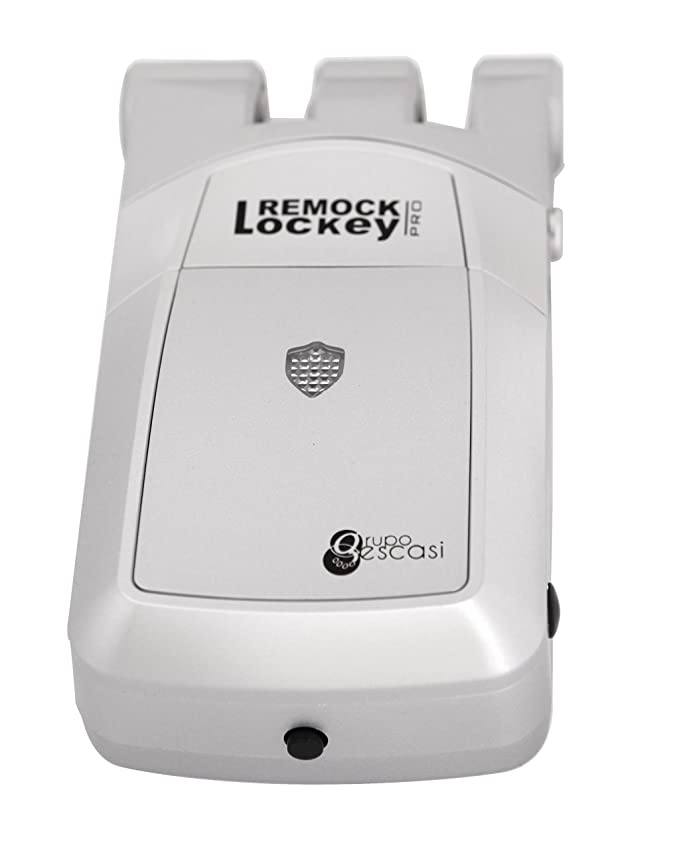 Remock Lockey Pro RLP4S - Cerradura de seguridad invisible con 4 mandos (3 V) color plata: Amazon.es: Bricolaje y herramientas