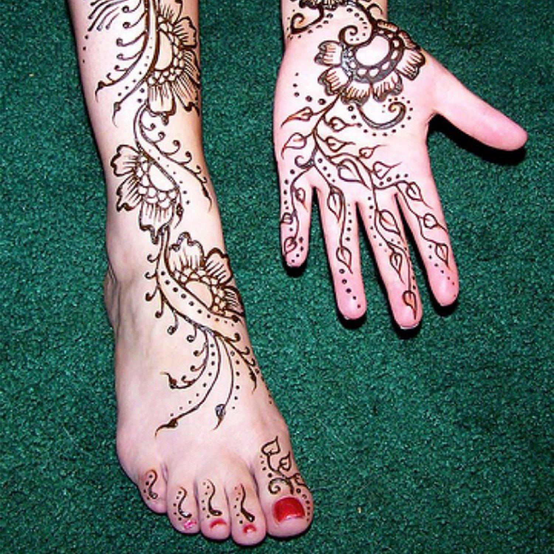 6x Henna Tattoo Temporäre Tattoo Natürliche + 10x Henna Tattoo ...