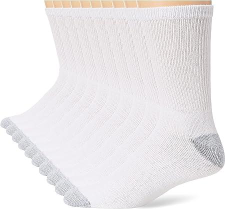 Hanes Men Big /& Tall Cushion Crew Socks 6-Pack