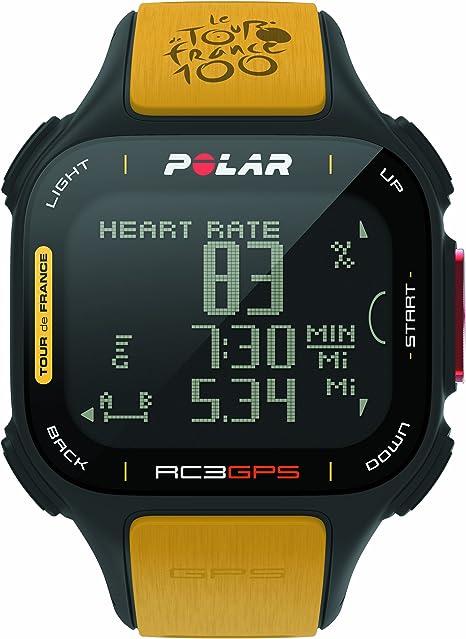 Polar RC3 GPS Tour de France - Reloj con pulsómetro y GPS Integrado, Compatible con Sensor de zancada, de cadencia y de Velocidad para Running y Ciclismo (Amarillo/Negro): Amazon.es: Deportes y aire