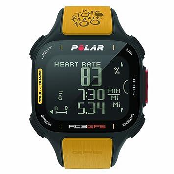 Polar RC3 GPS Tour de France - Reloj con pulsómetro y GPS Integrado, Compatible con Sensor de zancada, de cadencia y de Velocidad para Running y ...