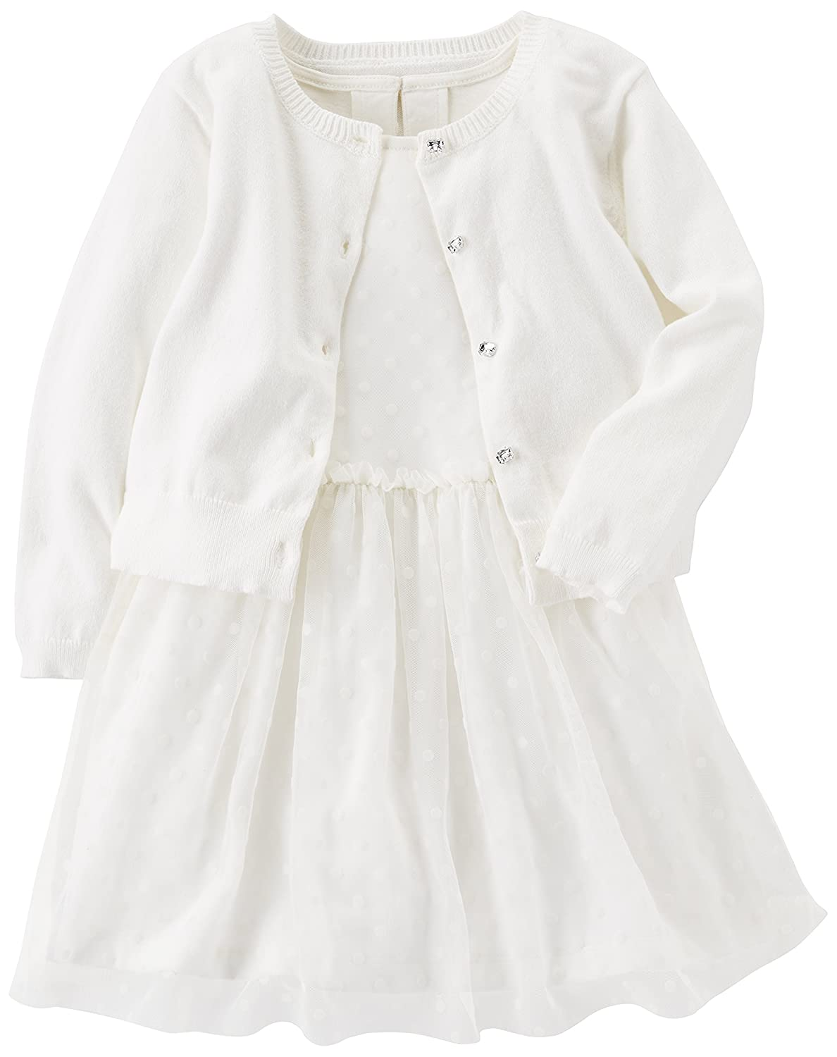 Carter's Baby Girls' Special Occasion Dress with Cardigan Carters KBC HODRESSCARD