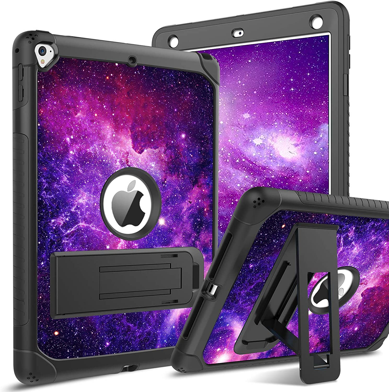 BENTOBEN iPad Air 2 Case, iPad 6th Generation Case, iPad 5th Generation Case, iPad 9.7 2018/2017 Case, Glow in The Dark 3 in 1 Shockproof Kickstand Protective Girls Women Boys Men Cover, Nebula Design