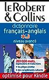Dictionnaire français-anglais Le Robert & Collins - Niveau avancé