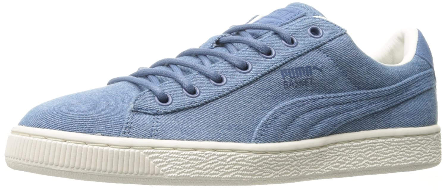 PUMA Basket Classic Denim Fashion Sneaker B01LWP7PH6 10.5 M US|Blue Fog-whisper White