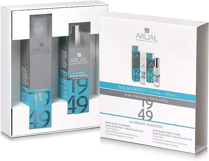 Arual, Pack Anti-Edad Crema Facial 50 ml + Sérum Facial 35 ml: Amazon.es: Belleza