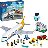 LEGO City Passenger Airplane 60262, with Radar Tower, Airport Truck with a Car Elevator, Red Convertible, 4 Passenger…