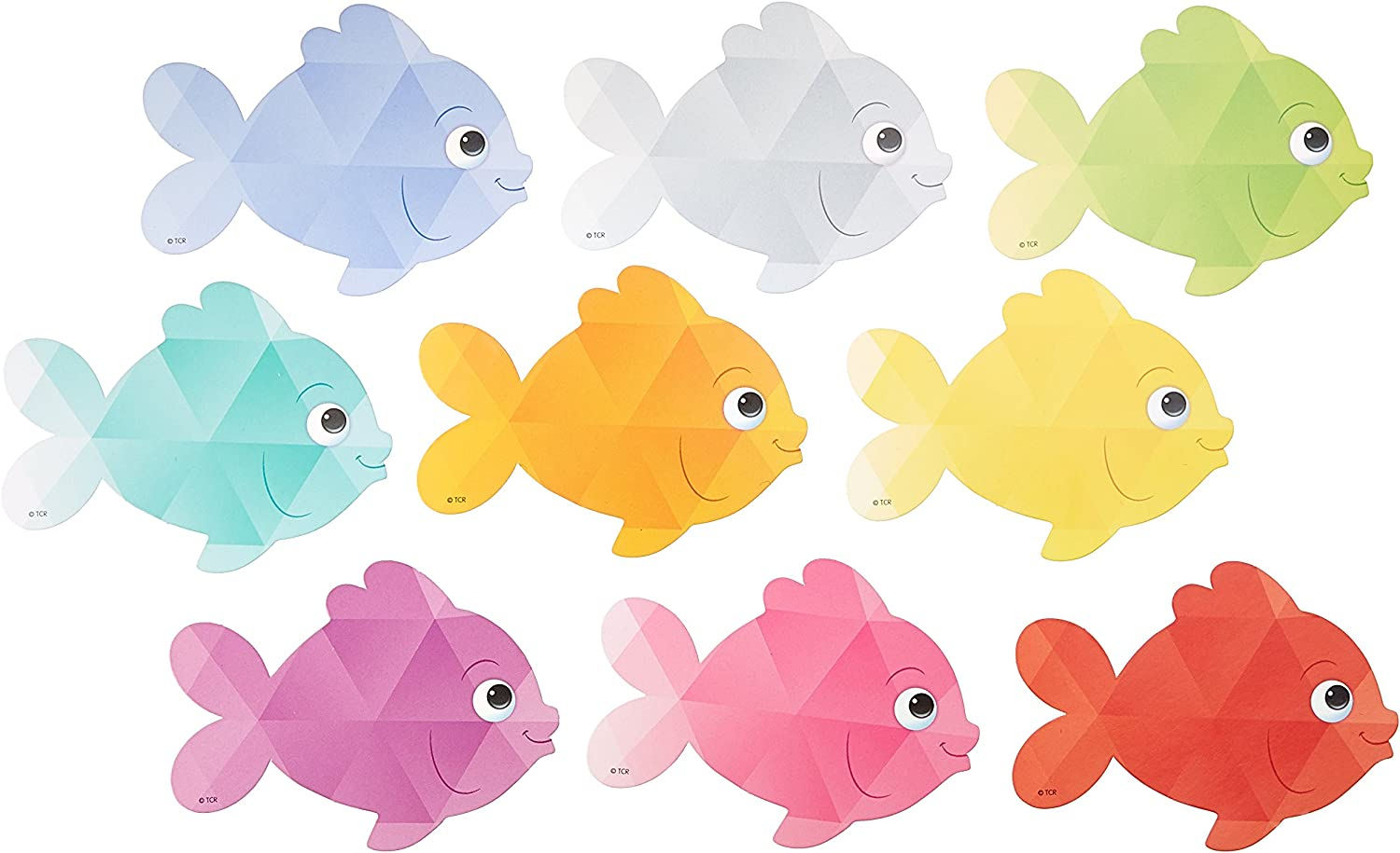 3551 Colorful Fish Mini Accents Teacher Created Resources