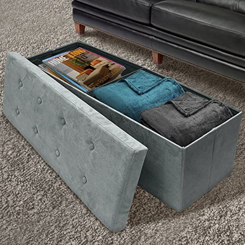 Sorbus Storage Ottoman Bench Collapsible/Folding Bench Chest
