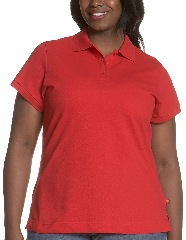 Dickies Girl Juniors Plus Size Short Sleeve 3 Button Pique Polo ...