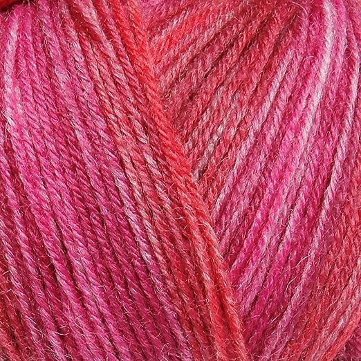 Mohair laine fil 10 x 50 g Boules Rose Vif 78/% mohair Double Tricot