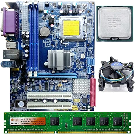Zebronics Intel Core 2 Duo E8400 3.0 GHZ + G41 Zebronics + 4 GB DDR3 Dolgix RAM Motherboards at amazon
