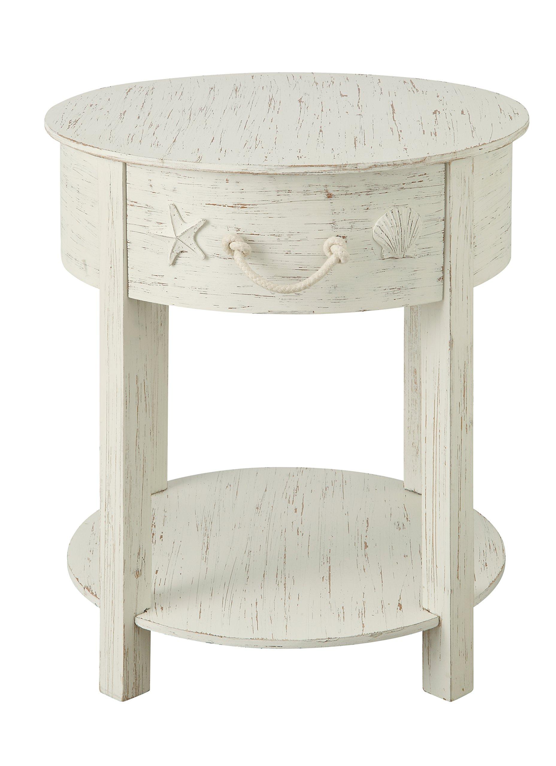 Treasure Trove One Drawer Accent Table, Cream