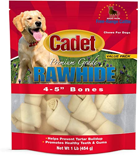 Cadet Gourmet Premium Grade Rawhide Bones for Dogs
