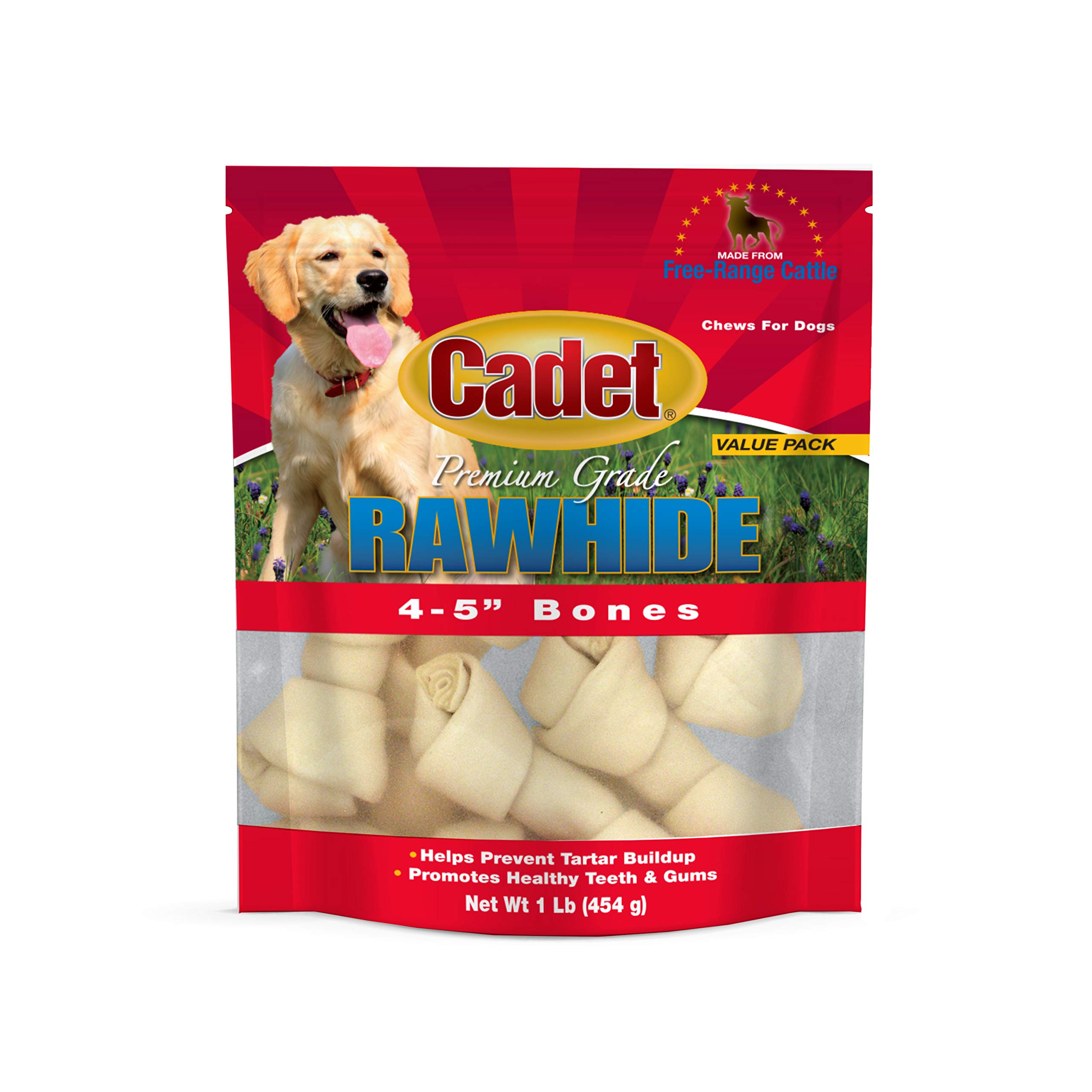 IMS Trading 10010 Natural Rawhide Bone for Dogs, 4-Inch