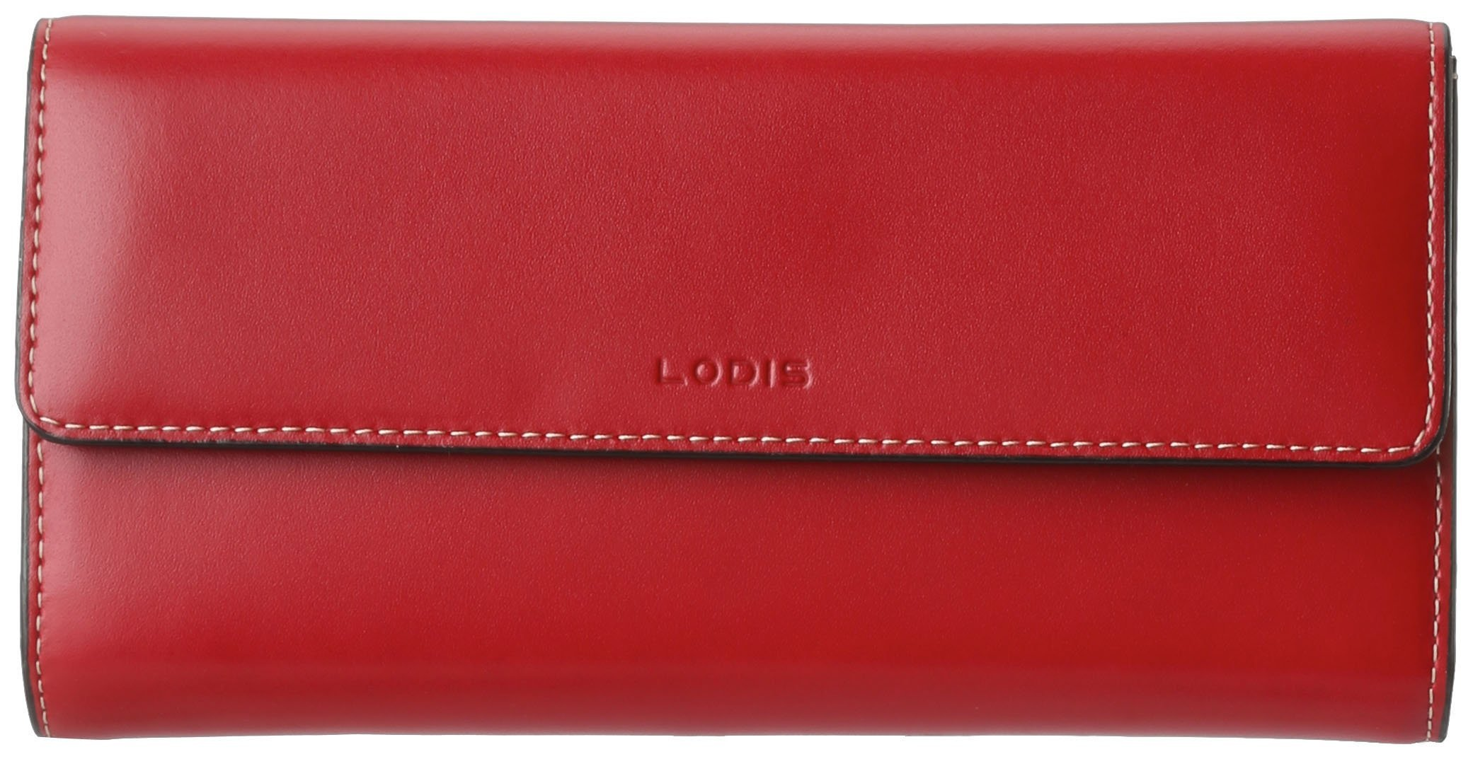 Lodis Audrey Checkbook Clutch,Red,one size