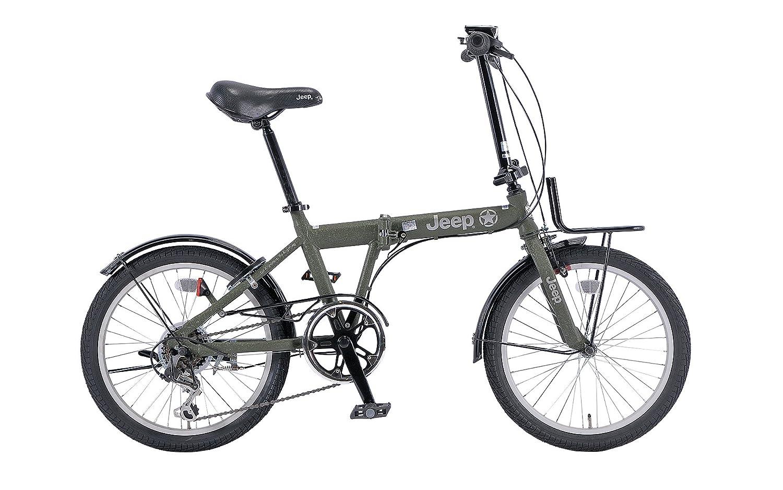 JEEP(ジープ) 折りたたみ自転車 20インチ シマノ6段変速 JE-206G カギライト付き OLIVE 2017 34872 B01N801M4T