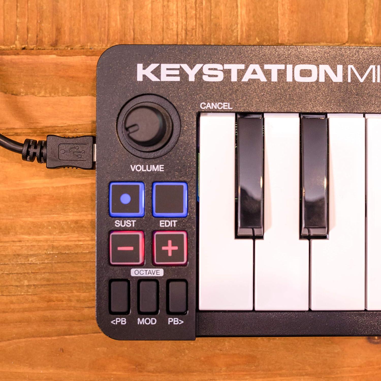 M-Audio Keystation Mini 32 MK3 - Miniteclado Controlador MIDI/USB Ultraportátil con ProTools First, M-Audio Edition y Xpand!2 de AIR Music Tech: Amazon.es: ...