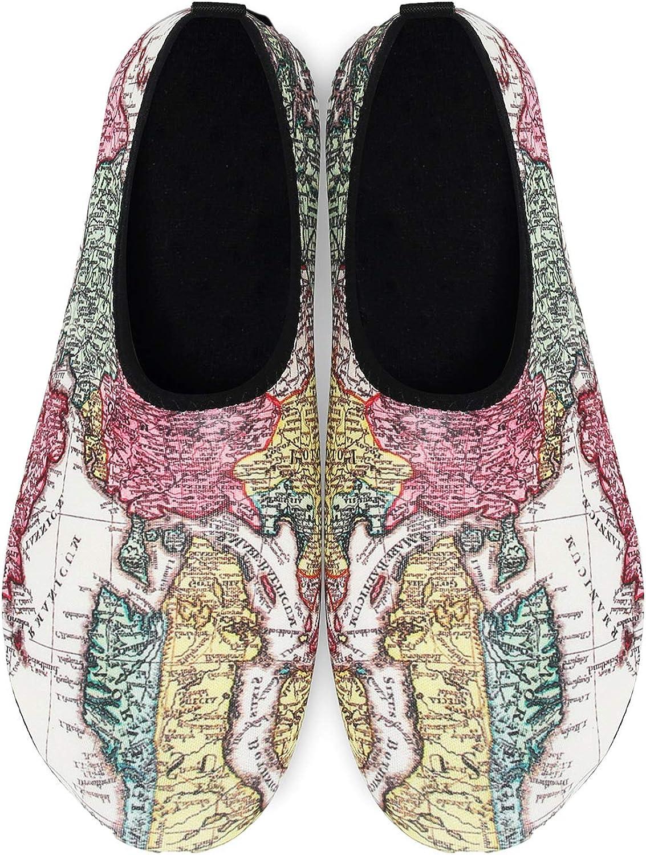 OUSIMEN Chaussures Aquatiques Femme Homme Chaussures deau Chaussures de Plage de Yoga de Surf de Nager Sport de Plong/ée pour Piscine