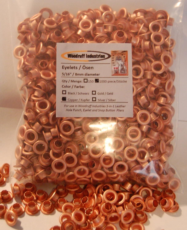 Kupfer Farbe woodruff industries 1 000 stücke 8mm kupfer farbe metall ösen fur