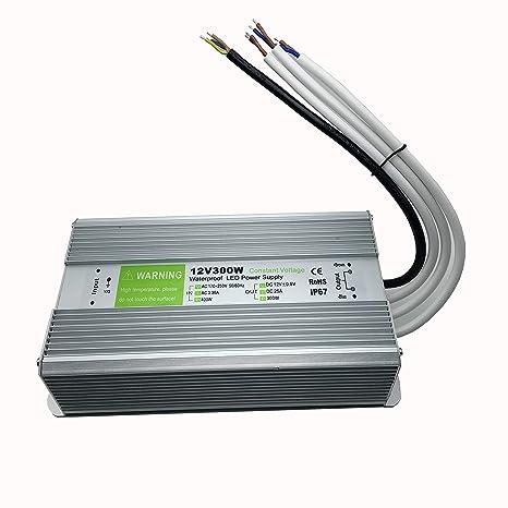 YXH ® transformer 300W LED Strip Module Driver 12v Power supply lighting  outdoor IP67 waterproof Ac 170-250v lighting transformer
