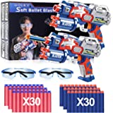 Holiky Toys for 3-9 Year Old Boys Girls Compatible with Nerf Guns Bullet, 2 Pack Hand Guns Foam Bullet Blaster Gun with…