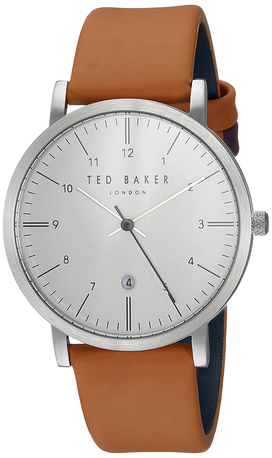 Ted Baker Men 's ' Samuel ' QuartzステンレススチールandレザーCasual Watch, Color : silver-toned (モデル: te15088002 ) B072ZSQ8MQ