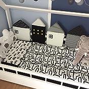 f/ür Kinderbett in Haus und f/ür Dekoration 100/% Baumwolle Nestchen,//anti-collision-Wiege f/ür Kinderbett mit Geschenk rose Aolvo atmungsaktiv
