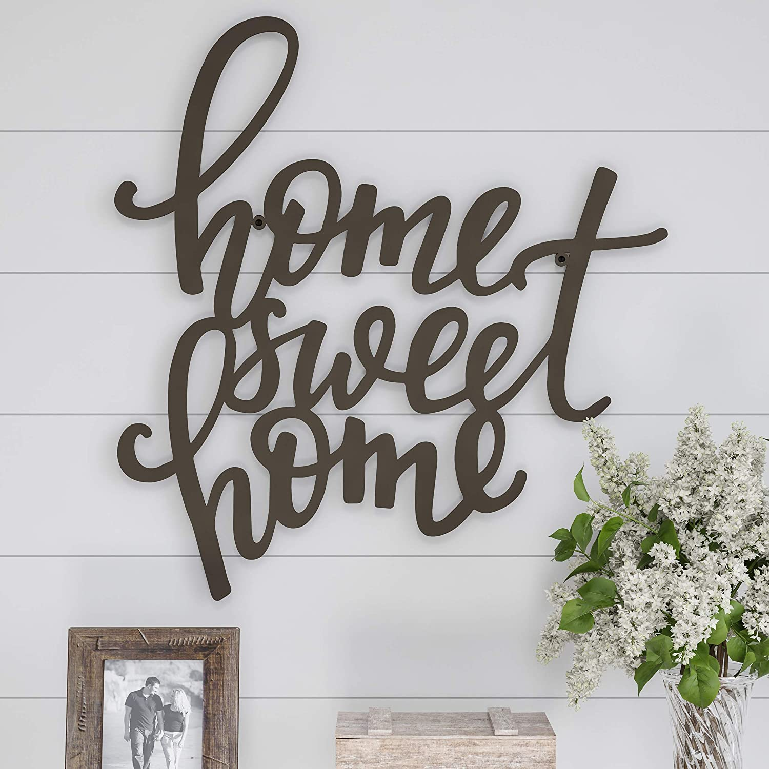 Amazon Com Lavish Home Metal Cutout Sweet Wall Sign 3d Word Art Home Accent Decor Perfect For Modern Rustic Or Vintage Farmhouse Style Home Kitchen