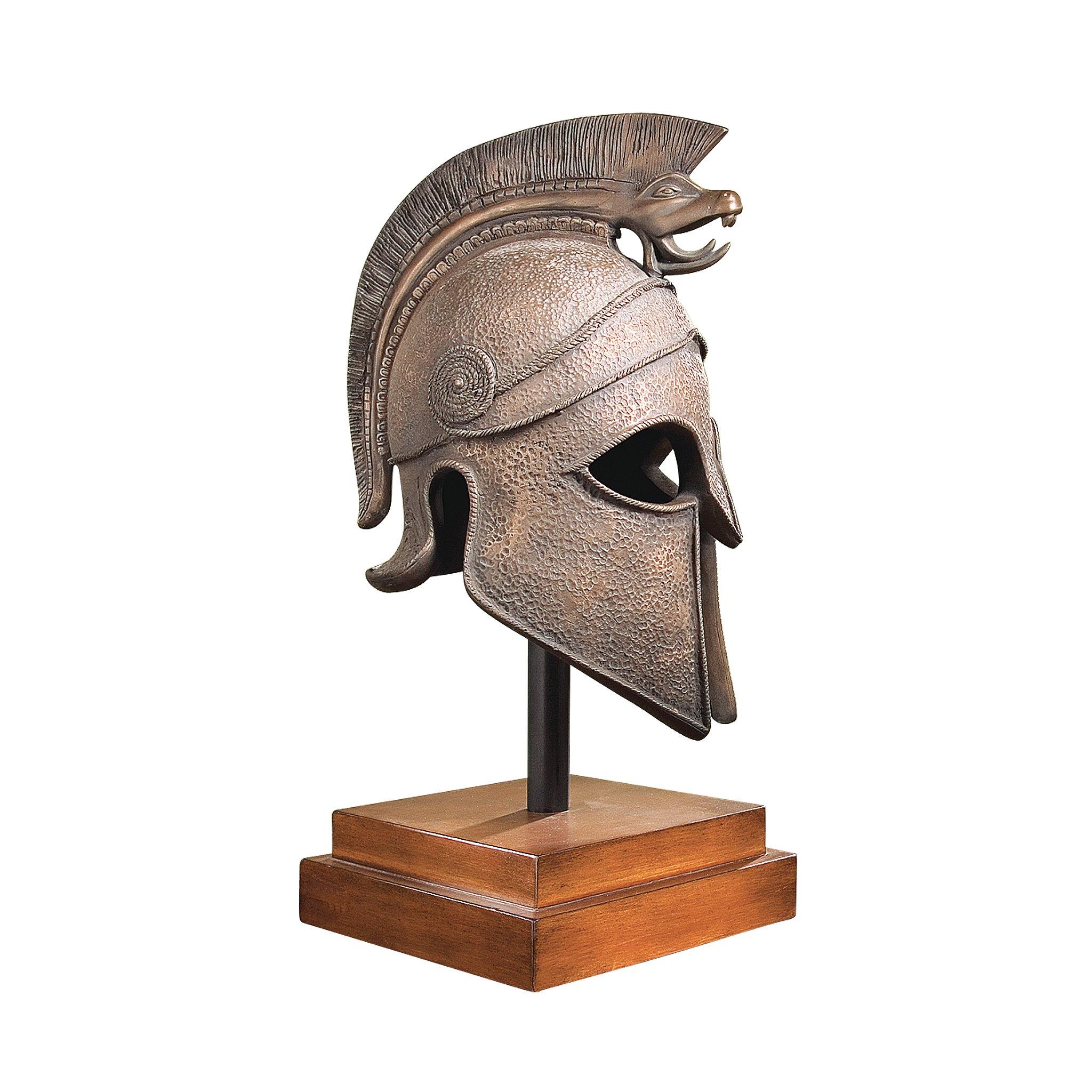Design Toscano Macedonian Battle Helmet Museum Sculpture in Antique Bronze