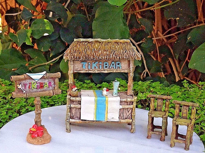 New Mini Fairy Wooden Chair Dollhouse Garden Home Sea Beach Bar Decor Ornament